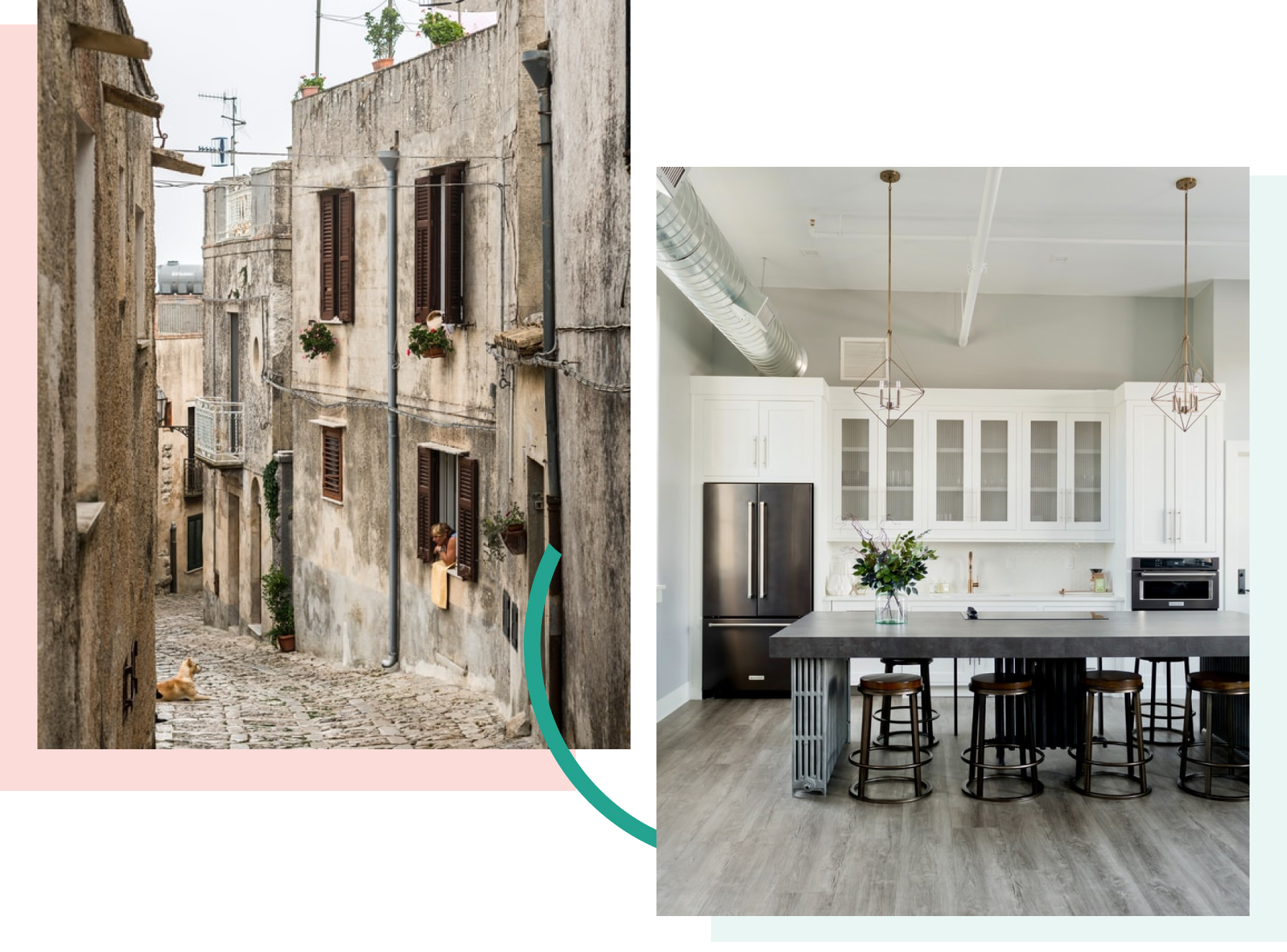 A concrete before/after case showing how an old 1 euro house turned into a modern, beautiful apartment.